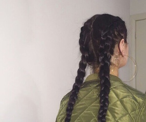 tumblr, braids, and hair image