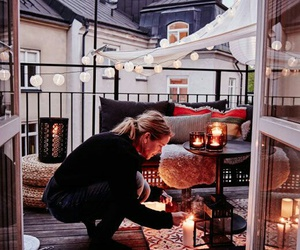 balcony, light, and candle image