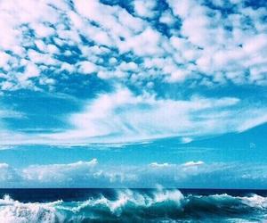 beach, blue, and sky image