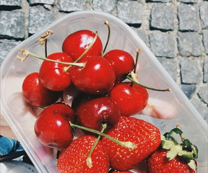 cherries, food, and delicious image
