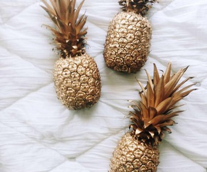 gold, pineapple, and fruit image