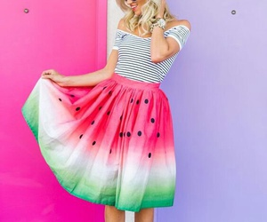 watermelon, summer, and dress image
