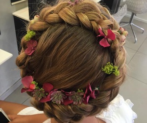 beauty, crown, and flowers image