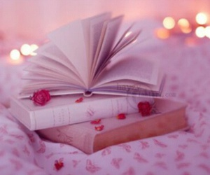 bed, pages, and books image