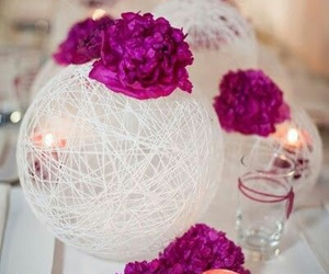 wedding, candle, and decoration image