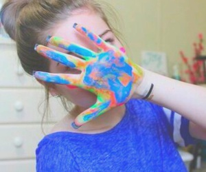 tumblr, hand, and paint image