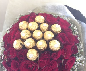 beautiful, bouquet, and chocolate image