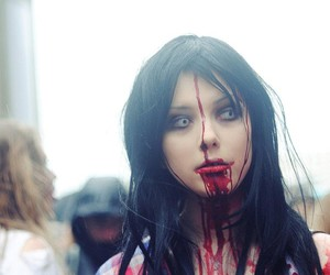 blood, girl, and scary image