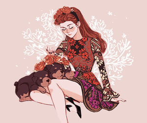 art, persephone, and hades image