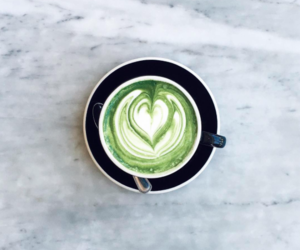 coffee, food, and green tea image