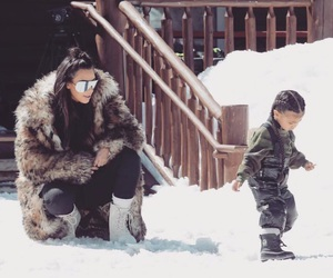 child, daughter, and winter image