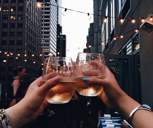 city, drink, and enjoy image