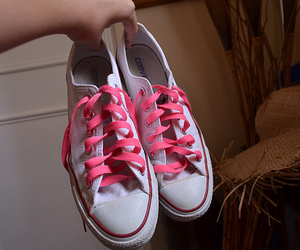 converse, laces, and pink image