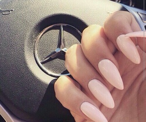 nails, pink, and mercedes image