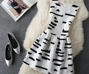 black and white, dresses, and fashion image