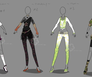 deviantart, look, and roupas image