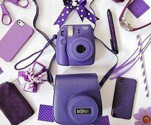purple and camera image