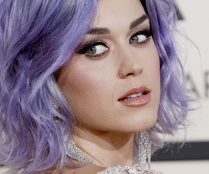 katy perry, grammys, and purple hair image