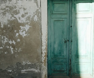 blue, door, and turchese image