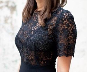 fashion, black, and lace image