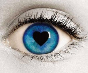 heart, blue, and eye image