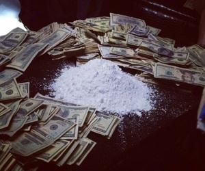 drugs, money, and cocaine image