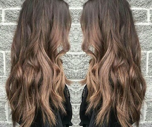 ombre, brunette, and hairstyle image