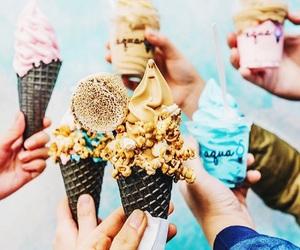food, ice cream, and friendship image