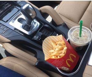 food, car, and McDonalds image
