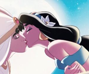 aladdin, disney, and kiss image