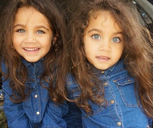 twins, baby, and eyes image