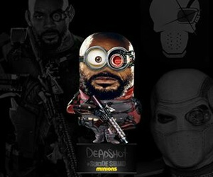 minions, deadshot, and suicide squad image