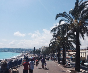 france, nice, and ocean image