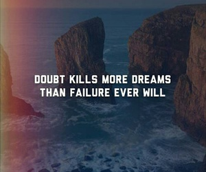 Dream, failure, and quote image
