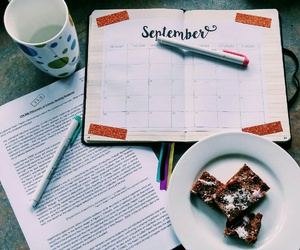 calendar, school, and September image