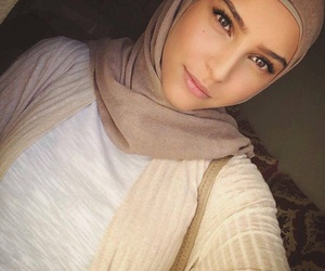 beauty, beige, and cardigan image