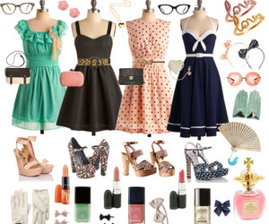 beautiful, shoes, and dresses image