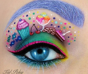 makeup, eye, and candy image