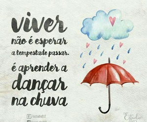 chuva, frase, and viver image