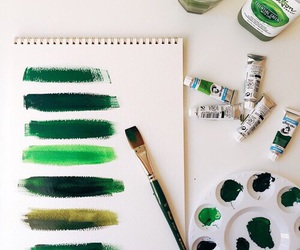 green, paint, and art image