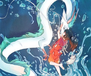 anime, dragon, and spirited away image
