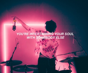 the 1975, somebody else, and Lyrics image