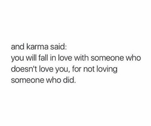 love, karma, and quote image