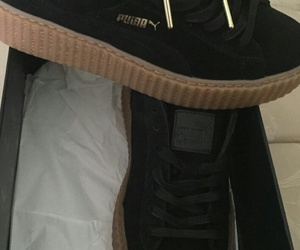puma, black, and rihanna image