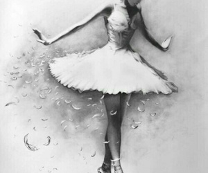 art, ballerina, and dance image