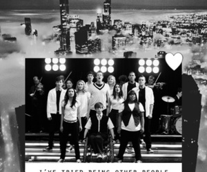 background, black&white, and glee image