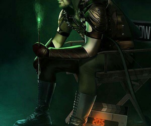 green arrow, arrow, and oliver queen image