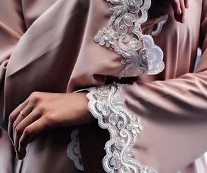 abaya, hijab, and dress image