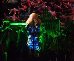 bjork, microphone, and concert image