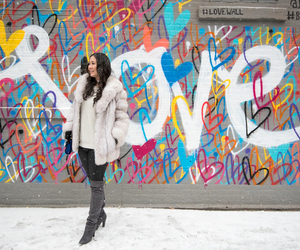 love, winter, and fashion image